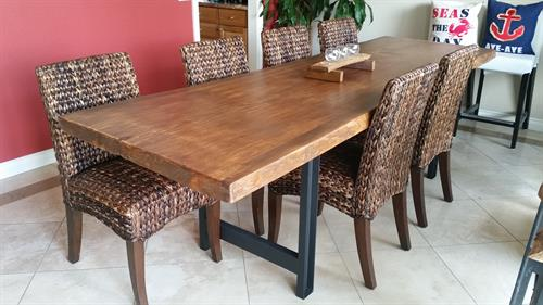 Live edge dining table.