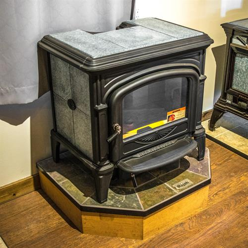One of our soapstone wood burning stoves, great for radiating heat!