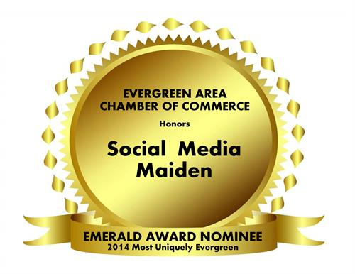 2014 Evergreen Area Chamber of Commerce Most Uniquely Evergreen Nominee