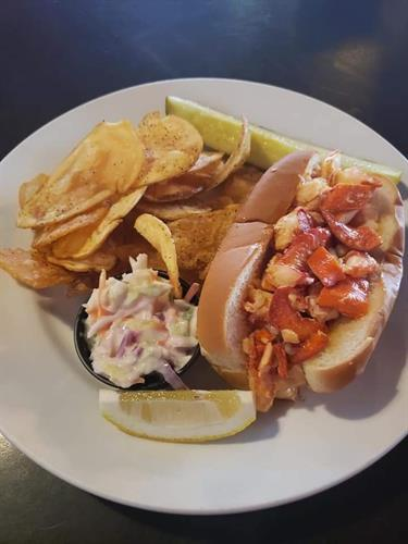 LOBSTER ROLLS 1st Thursday of Every Month!!!  Butter Lobster Roll: knuckle, claw and tail lobster meat drenched in butter with lemon and paprika on a toasted frank bun served with a pickle, coleslaw and pub chips. (Warm roll) $16  New England Lobster Roll: knuckle, claw and tail lobster meat lightly tossed with mayo, lemon juice, celery and scallions on a toasted frank bun with lettuce served with a pickle, coleslaw and pub chips. (Cold roll) $16  Extra Lobster Roll $14