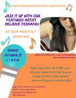 Open Mic & Jam Featuring Melanie Fernandi