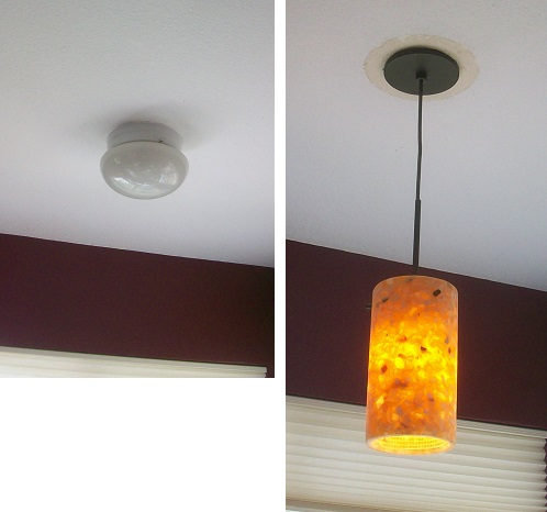 Replacing light fixtures.