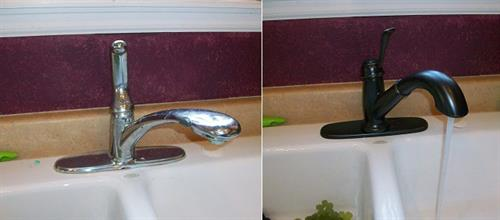 Kitchen faucet removal and replacement.