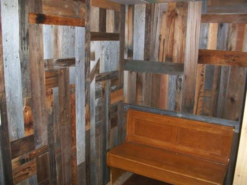 Mudroom/pantry finished with barn wood.