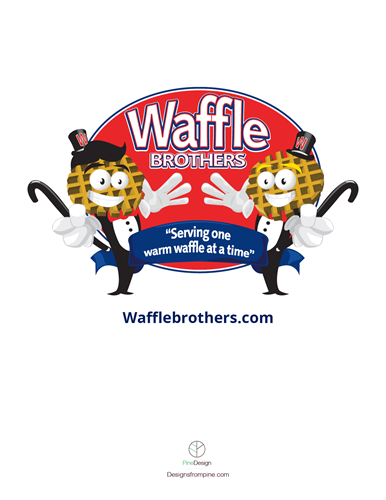 Waffle Brothers Drink Menu Front