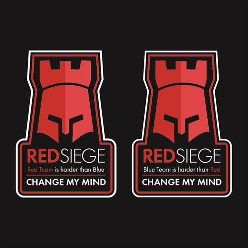 Red Siege Stickers