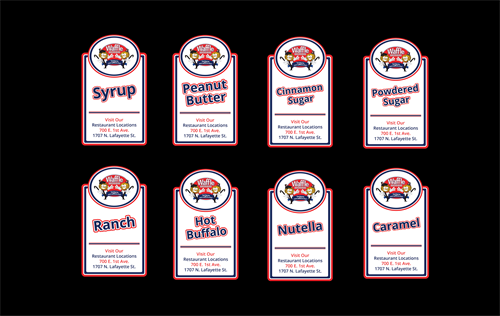 Waffle Brothers Sauce Labels