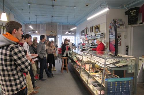 Students visiting Valley Coin Jewelry Pond