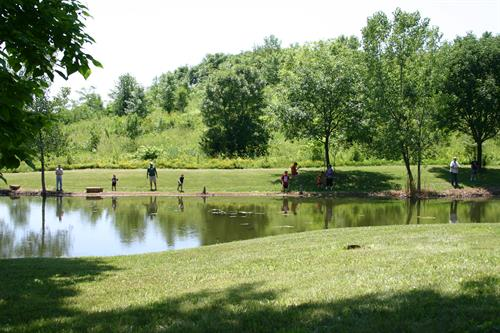 Youth fishing at Coal Miners Park