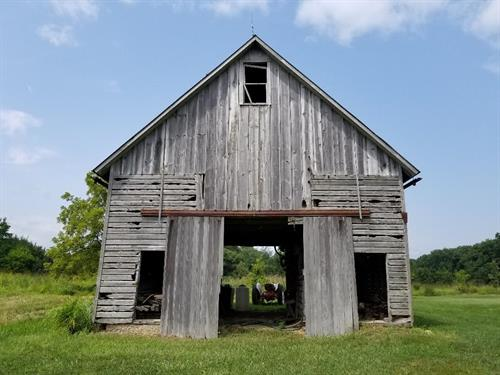FRONT OF BARN ON PROPERTY