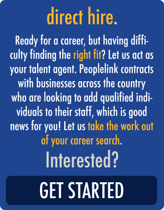 Direct Hire with Peoplelink Staffing