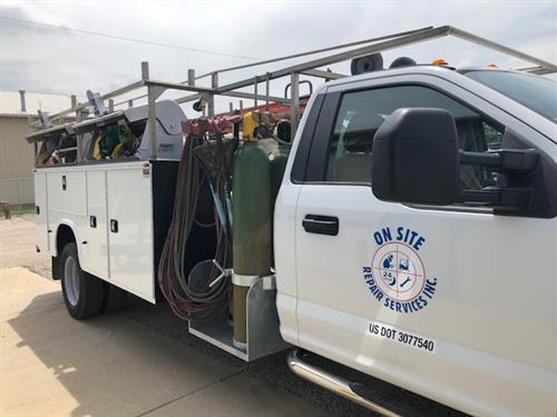 Field team has large fleet, fully equipped trucks