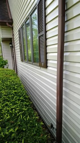 After Cleaning Siding