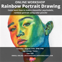 Virtual Rainbow Portrait Drawing for Teens
