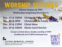 Advent Vespers @ Luther Memorial Church