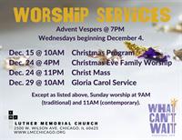 Gloria Carol Service @ Luther Memorial Church