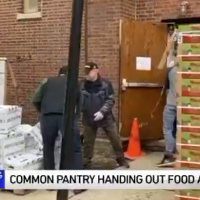 Common Pantry handing out food and gift cards