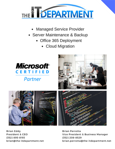The IT Department Flyer