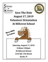 Volunteer at Stirrups 'n Strides Therapeutic Riding Center/Hillcrest School - Volunteer Orientation 8/17