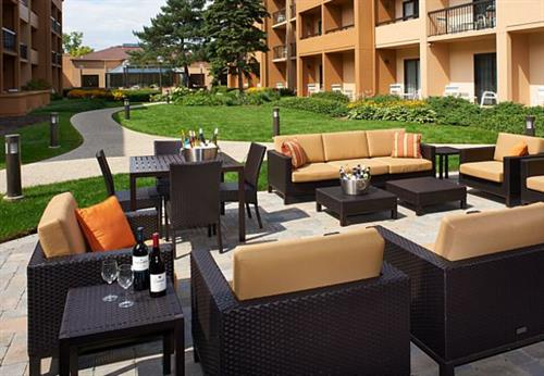 Enjoy the outdoors in our beautiful courtyard.