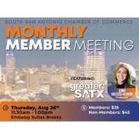 Monthly Member Meeting: Jenna Saucedo-Herrera, Greater: SATX