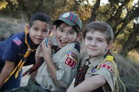 Scouts having fun Camping
