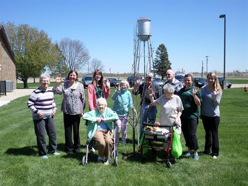 Resident's Planted a tree for Arbor Day