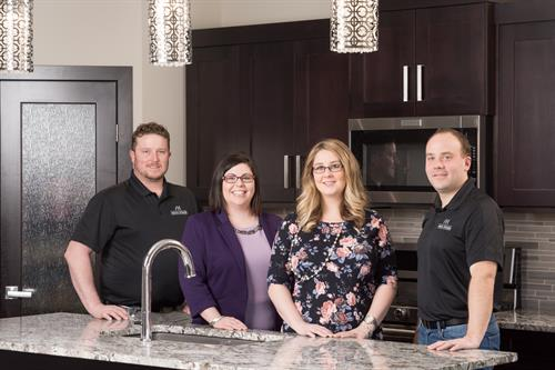 Avana Homes' owners: Jennifer Denouden - President, Troy Denouden - Project Manager, Matt Ackerman - Construction Manager, Nicki Ackerman - Office Manager