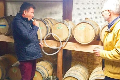 Jack Maxwell from the Booze Traveler on the Travel Channel visits the distillery.
