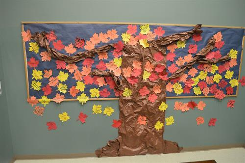"Students at Hood Canal School ""leave"" a message of Thanksgiving"