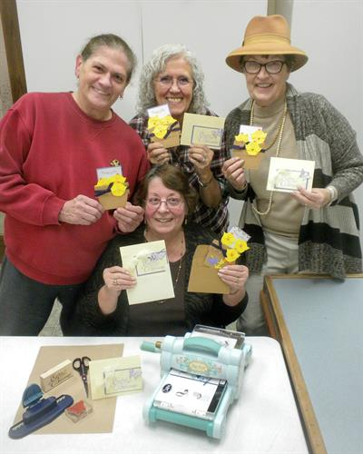 Norma Obremski's Monthly Card Making class.