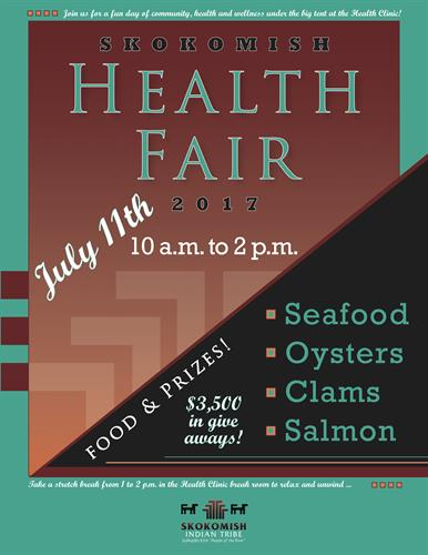Event promotional designs for the Skokomish Tribe Health Clinic