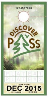 Michelle Pugh designed the Discover Pass for the WA State Parks and Recreation Commission in 2015 as on-call Senior Graphic Designer.