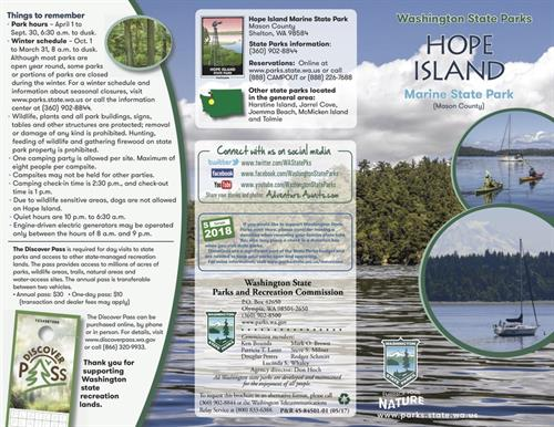 Brochure design for Hope Island State Park