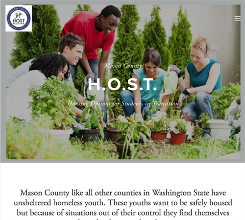 Website design for Mason County H.O.S.T. at Choice High School