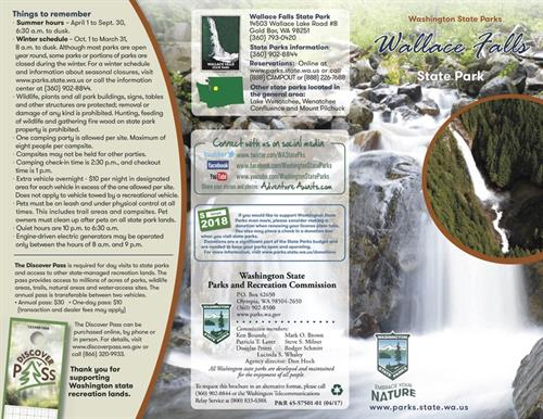 Over 100 brochure designs for the WA State Parks and Recreation Commission
