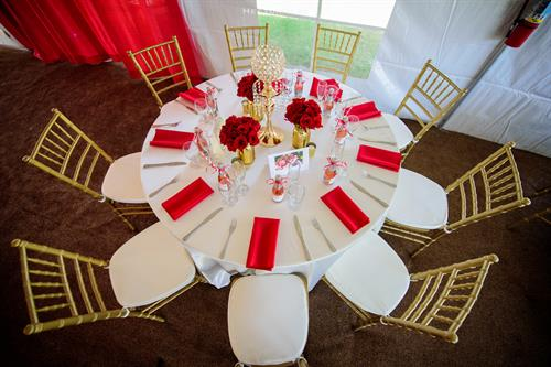 Table Linens and Chairs
