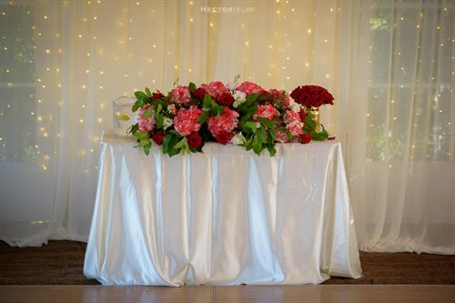 Decorated Sweet Heart Table