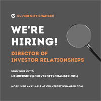 The Chamber is hiring a Director of Investor Relations - Apply Today!