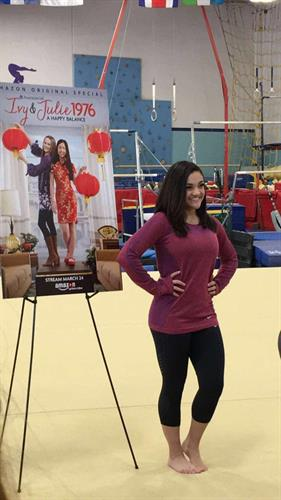 Laurie Hernandez doing a promo shoot at LASG