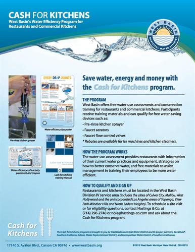 Cash for Kitchens: Water Efficiency Program for Restaurants and Commercial Kitchens