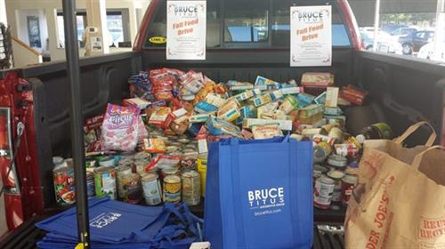 Filling the F150 for our annual Fall Food Drive to help Kitsap Help Line