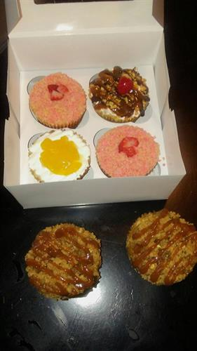 Variety Flavored Cheesecake Cupcakes