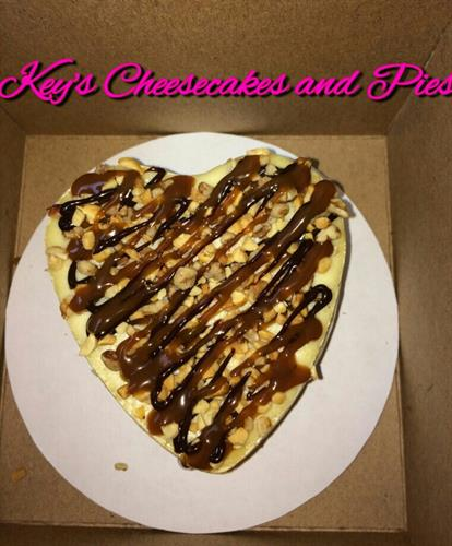 Personal Size Turtle Heart Shaped Cheesecake