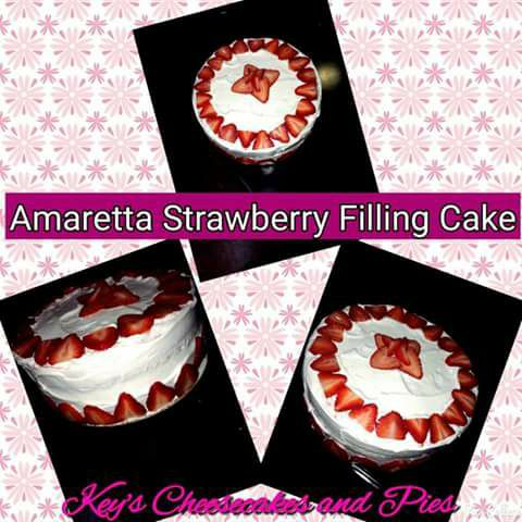 Amaretta Strawberry Filling Cake