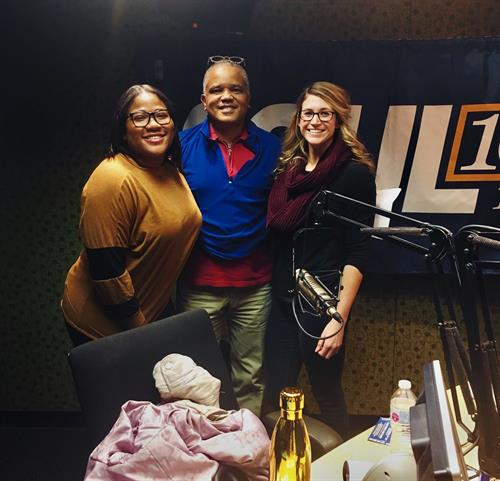L-R: Angelica Hardee, Eric Kearney, Becca Cochran