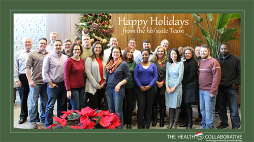 The Health Collaborative Operations Team holiday photo 2017