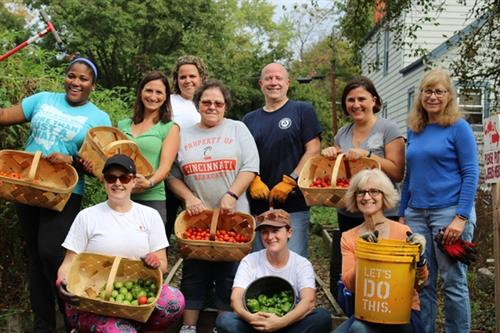 Collab-o-Lab service day at Lighthouse Community School/Madisonville Community Garden