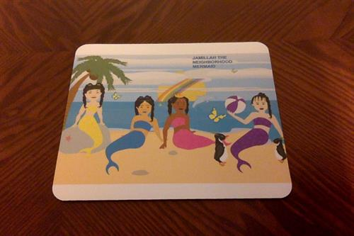 Down Syndrome Mermaids Mouse Pad