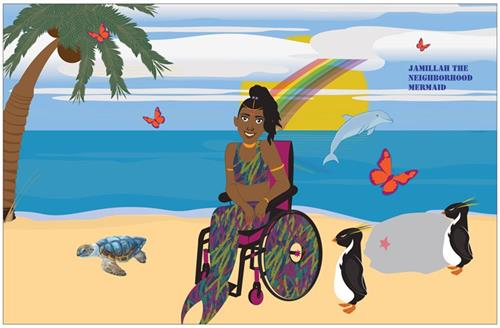 Wheelchair Mermaid Poster